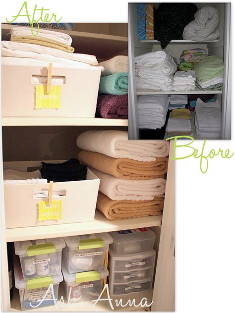 31 days of organizing tips day 13 linen closet from