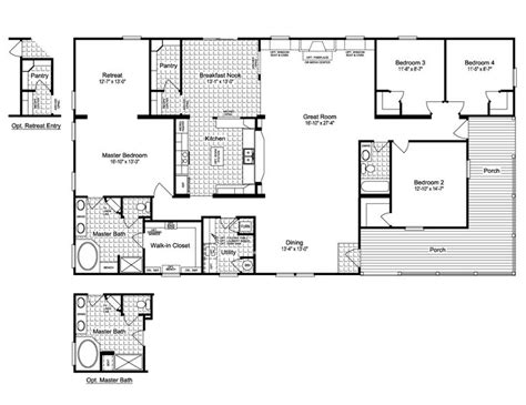 wellington 40483a manufactured home floor plan or modular floor plans 2004 palm harbor home floor plans