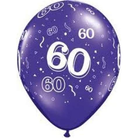 Balloons   60th Birthday Balloon   Partyshop.co.nz