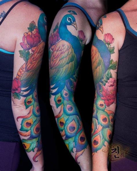peacock sleeve tattoo 25 best ideas about peacock sleeve on
