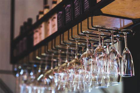 Range Verre Bar by Hanging Wine Glasses 183 Free Stock Photo