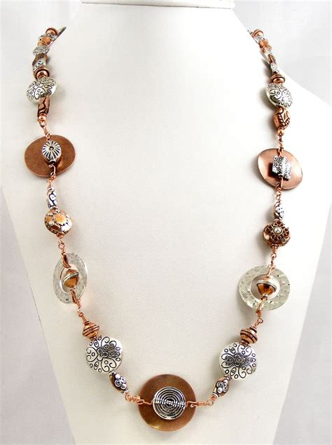 design ideas jewellery sweet freedom designs custom mixed metals wirework necklace