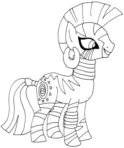 pony zecora coloring page  printable