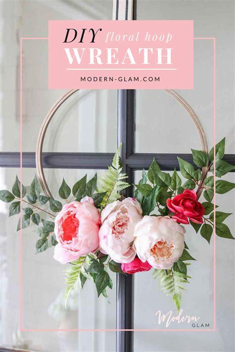 copy cat looks diy spring wreath diy modern spring floral hoop wreath