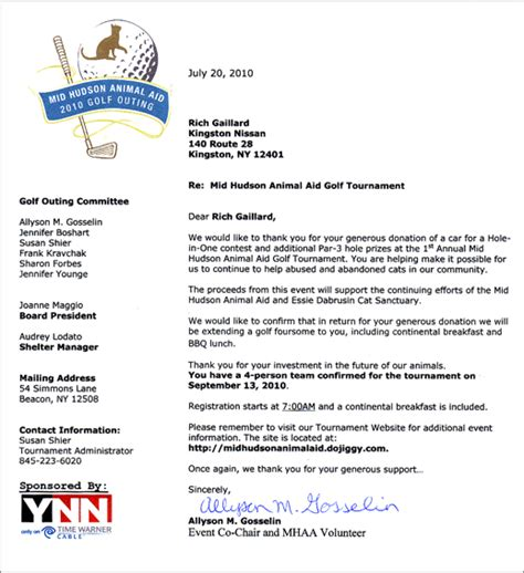 sponsorship letter for charity golf tournament golf tournament sponsorship letter docoments ojazlink