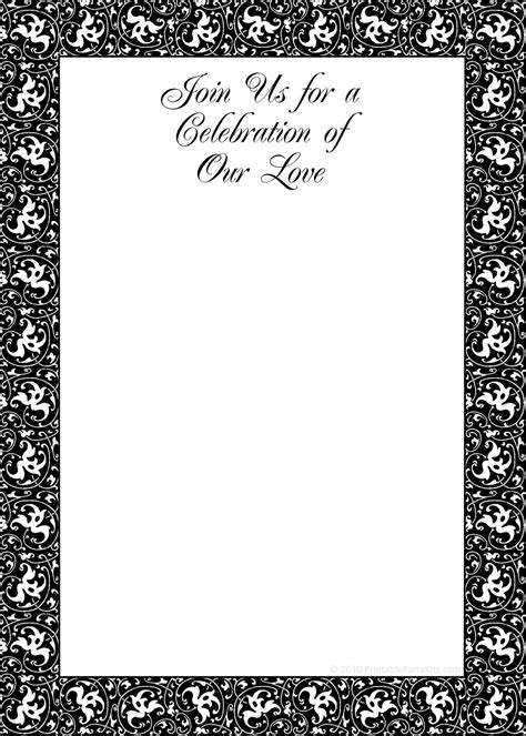 free printable party invitations black and white