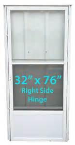 mobile home screen door mobile home standard door 32x76 rh white with screen