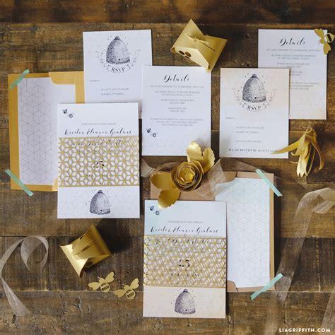 honey bee wedding invitations lia griffith