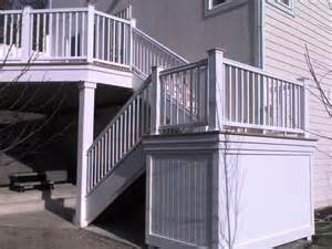 Pvc Stair Railings by Vinyl Outdoor Stair Railing Submited Images