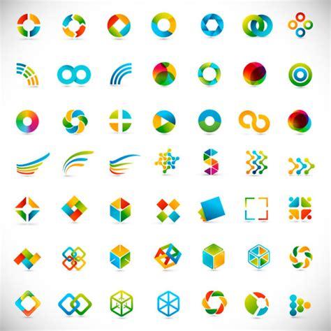 free vector logo design elements set of colored abstract logo design elements vector 06