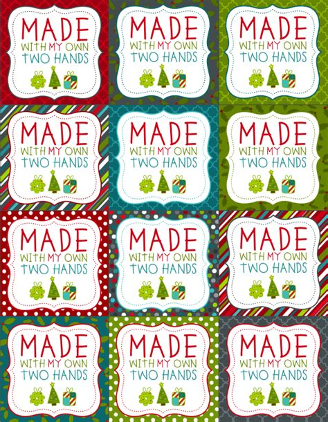 free printable christmas gift tags for food 7 best images of round printable food labels christmas
