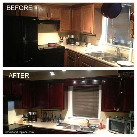 how to refinish your kitchen cabinets for 20 dollars