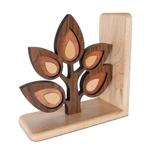 Bookshelf Christmas Tree Sapling Tree Branch Wooden Bookend Heirloom