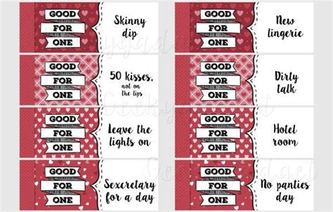 romantic and printable love coupons for him glitter n spice