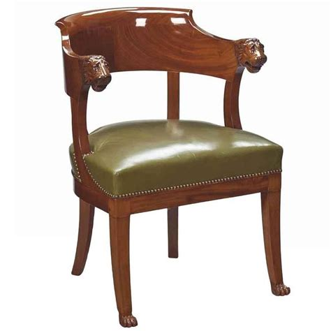 Furniture Chair Desk Empire Style Empire Mahogany Desk Chair Early 19th Century For Sale At 1stdibs