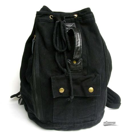 Canvas Backpack Black casuel canvas backpack army rucksack black khaki e
