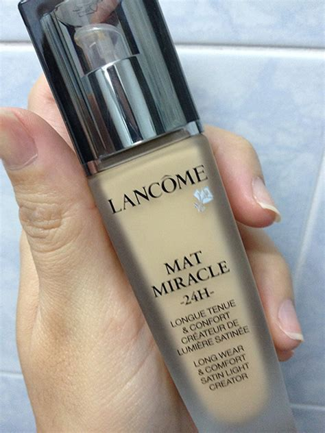 Lancome Mat Miracle foundation reviews battle of the miracles foundation