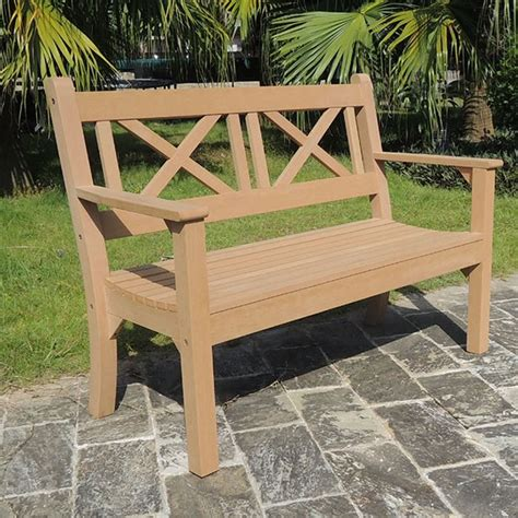 2 seat garden bench maywick winawood 2 seater wood effect garden bench teak