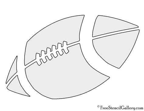 Football Template Printable by Football Stencil Free Stencil Gallery