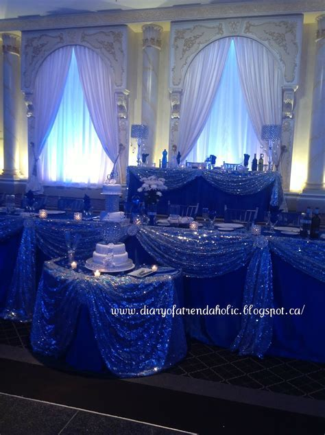 royal blue and silver wedding ideas   Wedding Decor Ideas