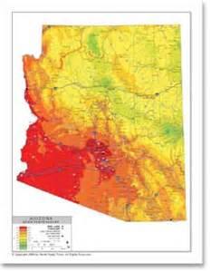 weather map for arizona stockmapagency average temperature map of arizona