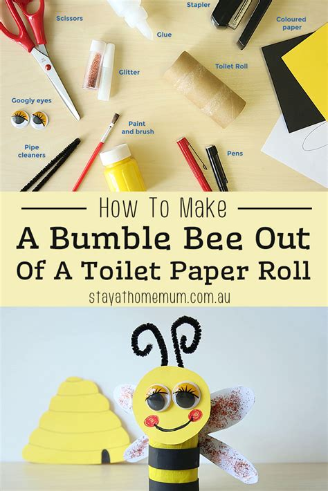 How To Make A Paper Bee - how to make a bumble bee out of a toilet paper roll stay