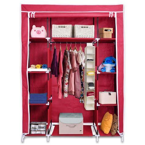 portable wardrobe large easy assemble storage space