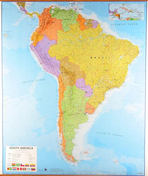 america map up map of south america by maps international