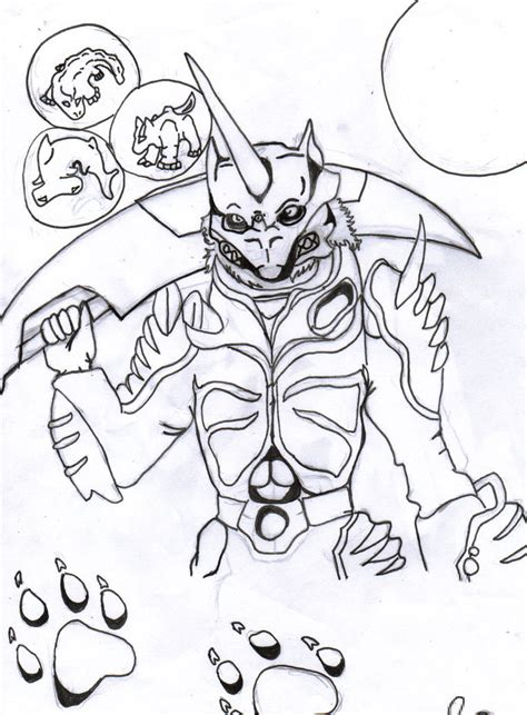 coloring pages of time force power rangers zen aku lineart by darkuswolf on deviantart