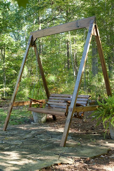 outdoor bench swings ideas for your garden swing