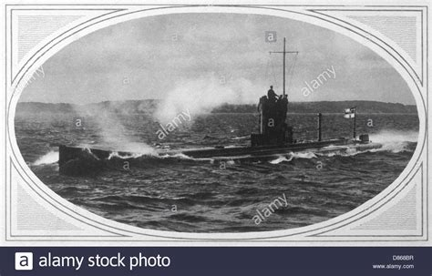 ships sunk by u boats ww1 sinking german u boats ww1 ww1 1915 u boat u8 sunk stock