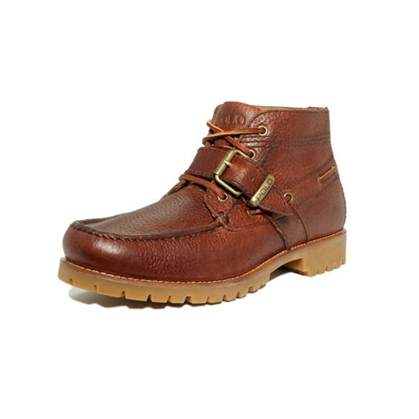 s polo ralph boots ralph rumford leather boots in brown for lyst
