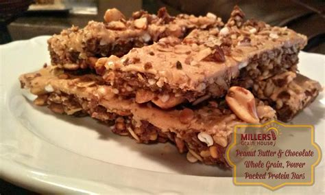 whole grains with protein peanut butter chocolate whole grain protein bar baking