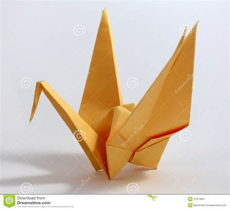 Japanese Origami Swan - origami swan royalty free stock photography image 37073647