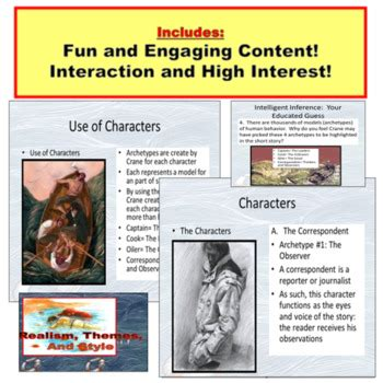 the open boat by stephen crane worksheet the open boat short story powerpoint by powerpoint guru tpt