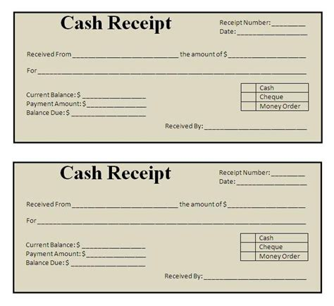 Free Payment Receipt Template by Receipt Template Click On The Button To Get