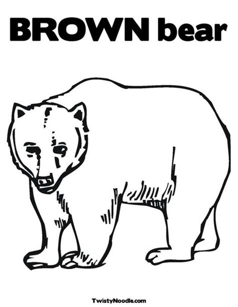 brown coloring pages preschool brown bear colouring pages