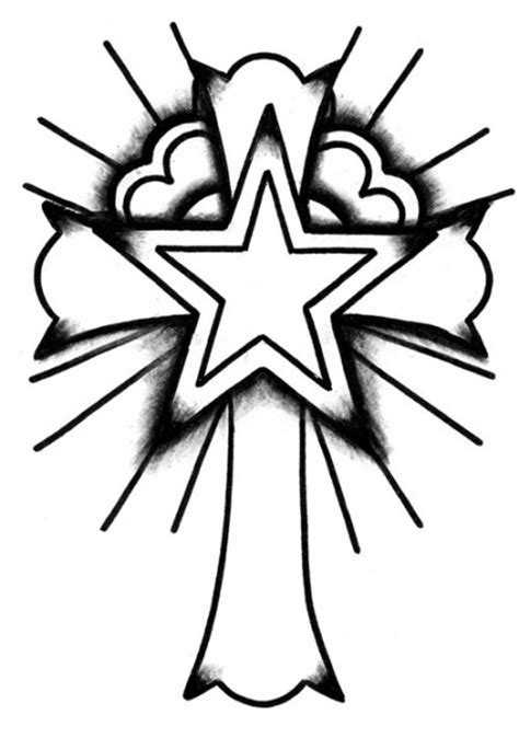 tattoo designs you can draw how to draw a cross clipart best