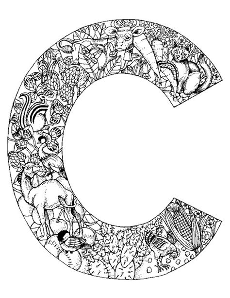C Coloring Pages For Adults by Animal Alphabet Letter C Coloring Pages Projects To Try