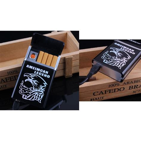kotak rokok 8pcs dengan korek elektrik black jakartanotebook