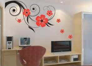 sticker wall decoration wall decor ideas 90 quot x 22 quot large vine butterfly wall decals removable