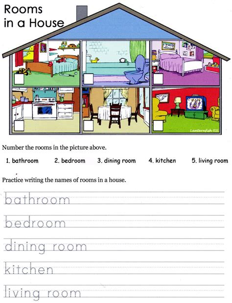 rooms in the house joinin speakup teachernick the house song and worksheet