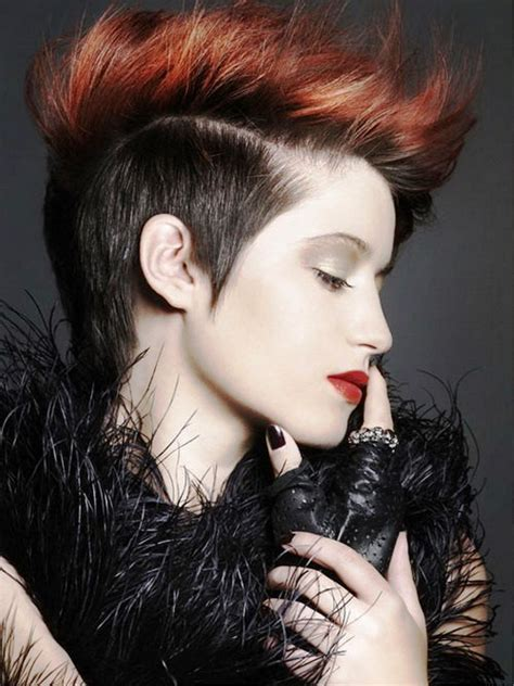 punk hairstyles and names pictures of punk hairstyles for short hair