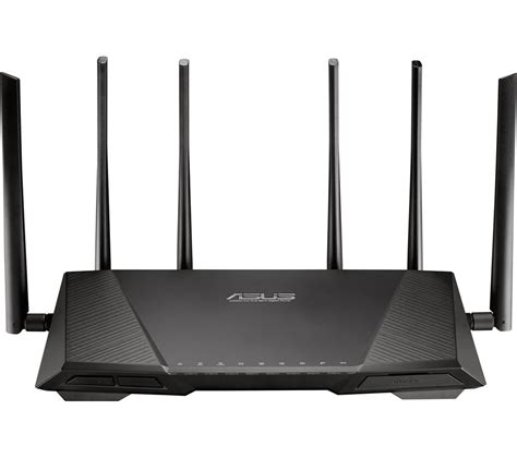 Router Pc asus rt ac3200 wireless cable fibre router deals pc world