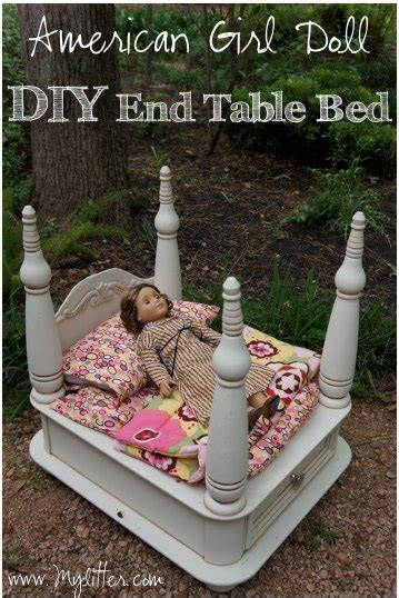 how to make an american girl doll bed how to make a diy american girl doll bed from an old end table mylitter one deal