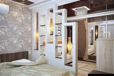 raumteiler schlafzimmer moderne ideen zur optischen trennung durch regal