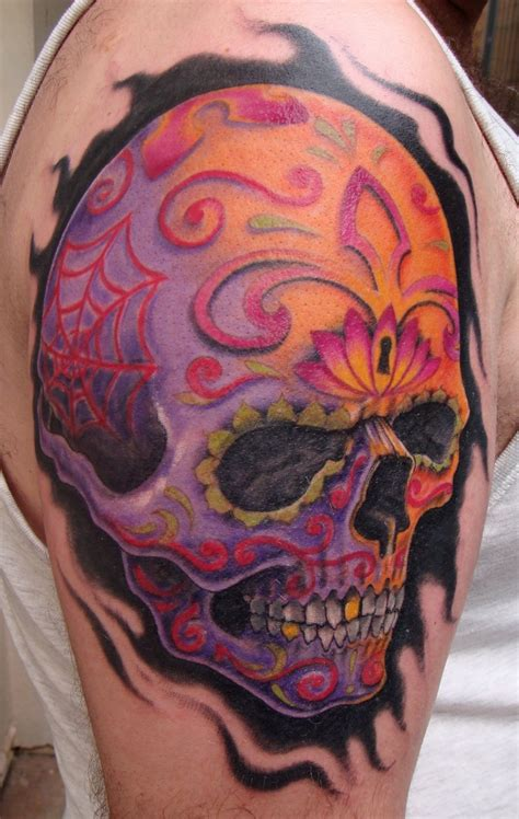 sugar skull tattoo for men skull tattoos designs ideas and meaning tattoos for you
