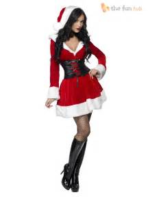 adult ladies sexy santa costume womens christmas fancy