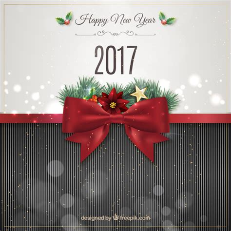 new year ribbon new year background with a ribbon vector