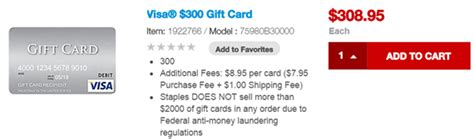 300 Visa Gift Card - 300 visa gift cards now available online at staples com frequent miler